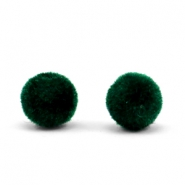 Velvet pompom beads 8mm Dark Green