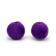 Velvet pompom beads 6mm Royal Purple