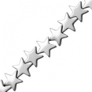 Hematite beads star 10mm Light Grey