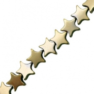 Hematite beads star 6mm Antique Gold