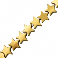 Hematite beads star 6mm Gold