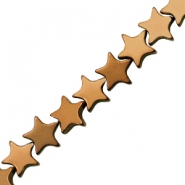 Hematite beads star 6mm Rose Gold