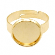 Rings metal for cabochon 12mm Gold