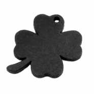 DQ leather charms clover large Vintage Black
