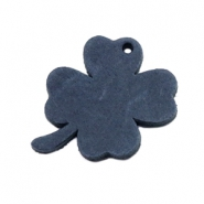 DQ leather charms clover medium Dark Denim Blue