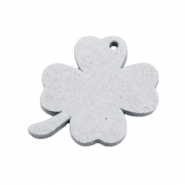 DQ leather charms clover medium Light Grey