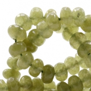 8 mm natural stone faceted beads disc Jade Olivine Green