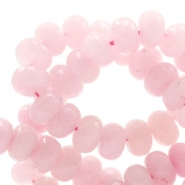 8 mm natural stone faceted beads disc Jade Powder Pink