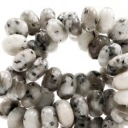 6 mm natural stone beads disc Jade Mixed Natural Grey