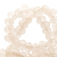 4 mm natural stone faceted beads disc Jade Sand Beige