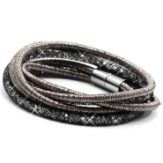 Bracelets double sparkle & shine Anthracite-Black