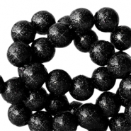 6 mm acrylic beads with glitter Black