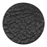 DQ leather cabochons 35mm Midnight Black