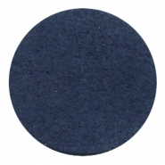 DQ leather cabochons 35mm Dark Denim Blue