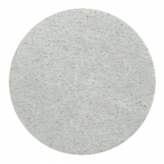 DQ leather cabochons 35mm Light Grey