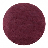 DQ leather cabochons 35mm Light Aubergine Red