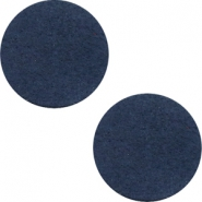 DQ leather cabochons 20mm Dark Denim Blue
