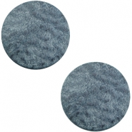 DQ leather cabochons 20mm Vintage Blue
