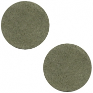 DQ leather cabochons 20mm Dark Olive Green