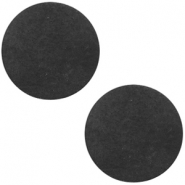 DQ leather cabochons 12mm Vintage Black
