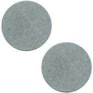 DQ leather cabochons 12mm Grey