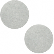 DQ leather cabochons 12mm Light Grey