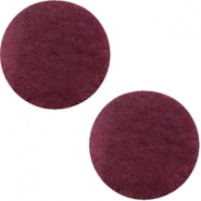 DQ leather cabochons 12mm Light Aubergine Red