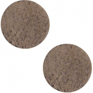 DQ leather cabochons 12mm Chocolate Brown