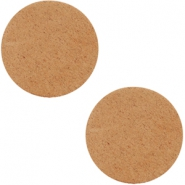 DQ leather cabochons 12mm Light Cognac Brown
