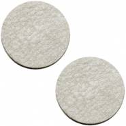 DQ leather cabochons 12mm Graphite Grey