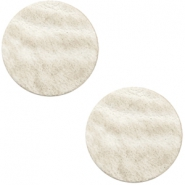 DQ leather cabochons 12mm Country Grey