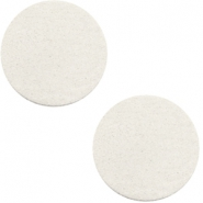 DQ leather cabochons 12mm Off White