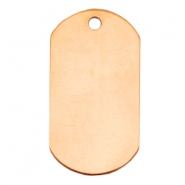 Designer Quality metal for ImpressArt Name Tag 20x37mm Rose Gold (Nickel free)