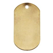 Designer Quality metal for ImpressArt Name Tag 20x37mm Antique Bronze (Nickel free)