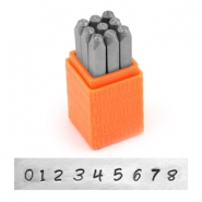 ImpressArt Basic Bridgette number stamps set 3mm Orange