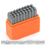 ImpressArt Basic Bridgette letter stamps set Uppercase 3mm Orange