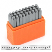 ImpressArt Basic Bridgette letter stamps set Lowercase 3mm Orange