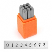 ImpressArt Basic Newsprint number stamps set 3mm Orange