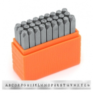 ImpressArt Basic Newsprint letter stamps set Uppercase 3mm Orange