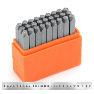 ImpressArt Basic Newsprint letter stamps set Lowercase 3mm Orange