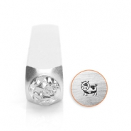 ImpressArt design stamps cow 6mm Silver