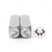 ImpressArt design stamps antler 6mm set Silver