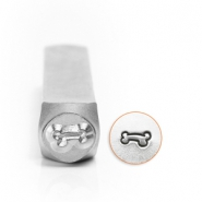 ImpressArt design stamps dog bone 6mm Silver