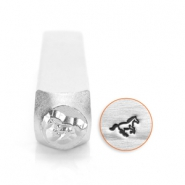 ImpressArt design stamps galloping horse 6mm Silver