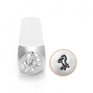 ImpressArt design stamps horse 6mm Silver