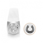 ImpressArt design stamps horse shoe 6mm Silver