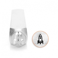 ImpressArt design stamps rocket ship 6mm Silver