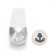 ImpressArt design stamps anchor 6mm Silver
