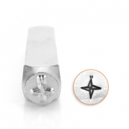 ImpressArt design stamps compass 6mm Silver