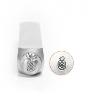 ImpressArt design stamps pineapple 6mm Silver